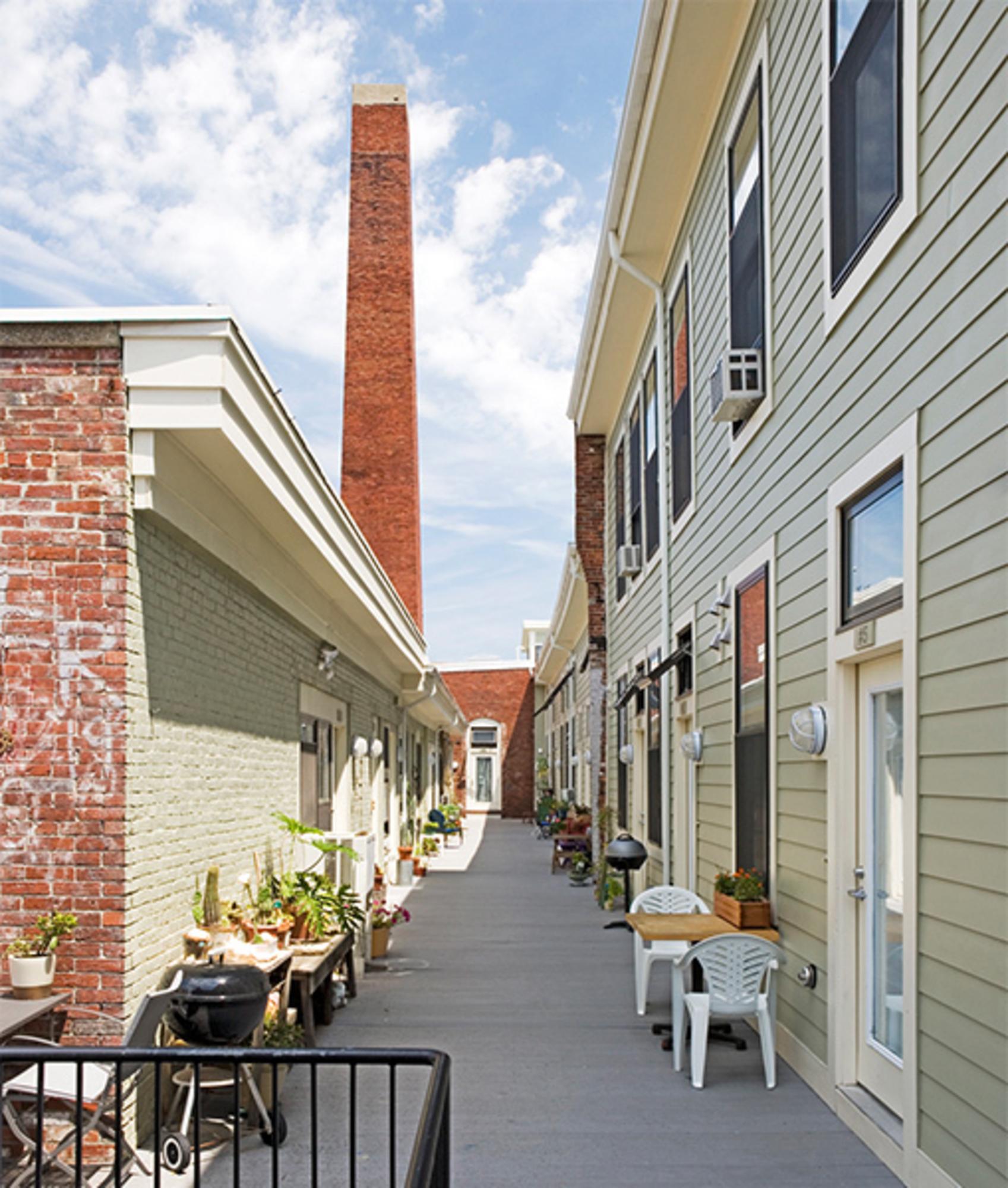 Brookside Artist Studios - Rear of property after