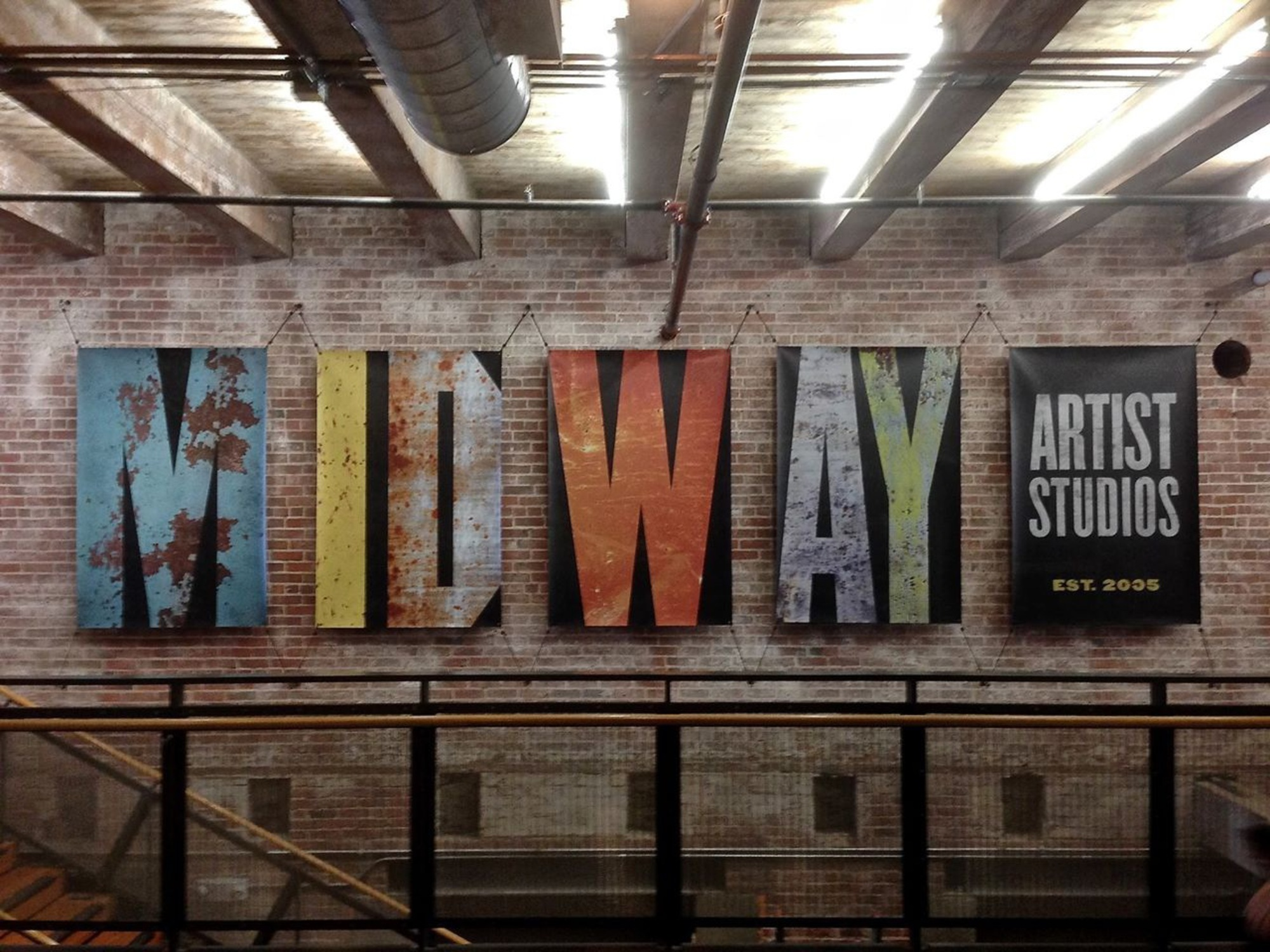 Midway Artist Studios - Lobby banners